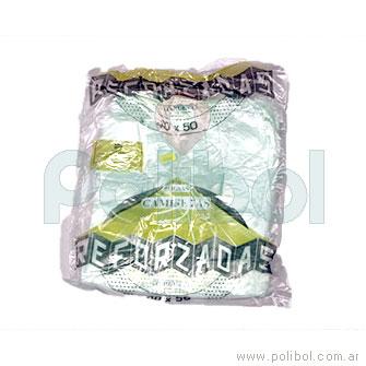 Bolsas camisetas A/D verdes 40 x 50 cm.