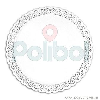 Bandeja plato de reposteria redonda de 24 cm