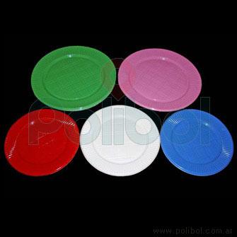Plato de comida rojo x50