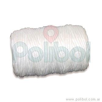 Bobina de hilo de polipropileno fino blanco