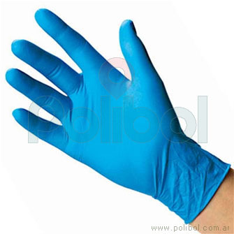 Guantes de nitrilo azul S