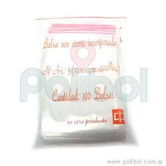 Bolsas transparentes con cierre incorporado de 5 x 7 cm.