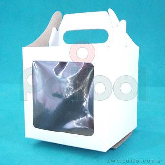 Bolsita de cartón para un cupcak con ventana