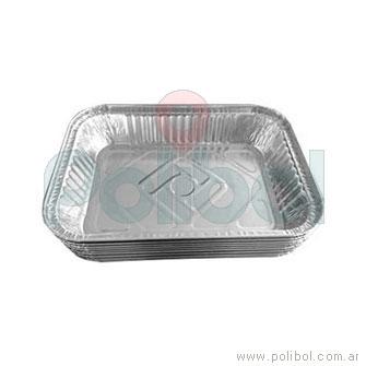 Bandeja aluminio F2100 (B5). Paquete x 10 unidades.-