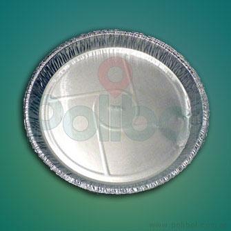 Plato de aluminio P26. Paquete x 10 unidades.-