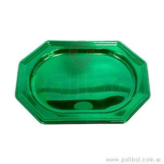 Bandeja octogonal verde