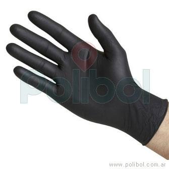 Guantes de nitrilo negro S