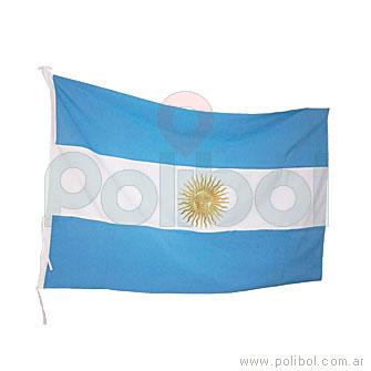 Bandera Argentina con Sol