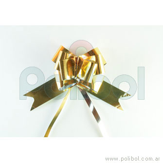 Moño rápido metalizado dorado