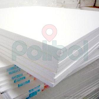 Plancha de telgopor de 100 x 100 cm.