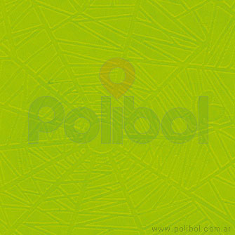 Papel plasficado tipo araña verde manzana