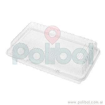 Estuche rectangular 250x150 mm. Altura 50 mm. Paquete x 10 unidades.-