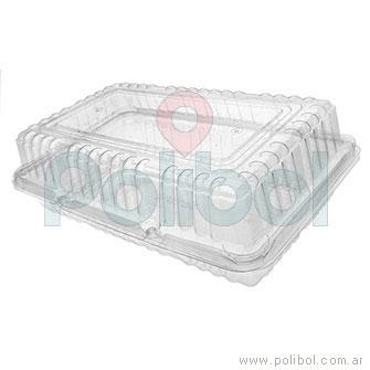 Estuche rectangular 250x150 mm. Altura 75 mm. Paquete x 10 unidades.-