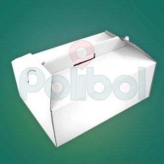 Caja micro corrugado blanco