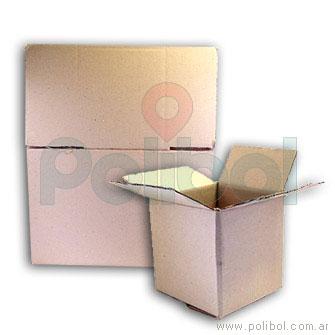 Caja de cartón corrugado 20 x 20 x 20 cm.