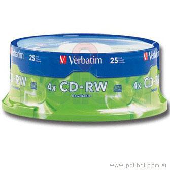 CDs Regrabables 80m. 700MB 12x