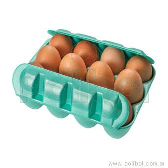 Estuche PSE para huevos naranja/amarillo para 12 unidades. Paq x 200 unid