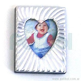 Portarretrato corazón 3x4