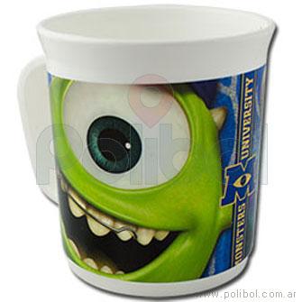 Taza de plástico Monster University