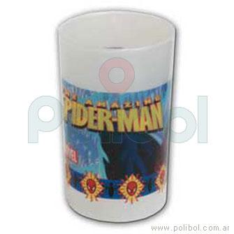 Vaso chico perlado Spiderman
