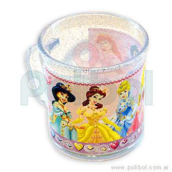 Taza Glitter Princesas