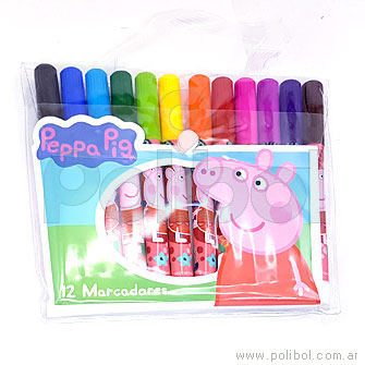Marcadores Peppa Pig x 12