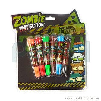 Marcadores con sellos Zombie Infection
