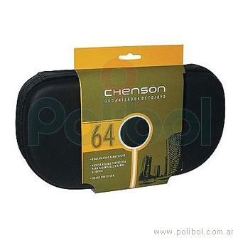Porta CD/DVD Negro 64CDs
