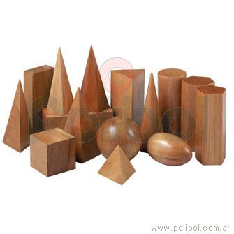 Cuerpos geométricos de maderas - 15 unidades