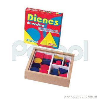 Dienes de madera - 48 piezas