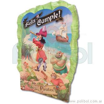 Piñata de cartón Los piratas-Disney