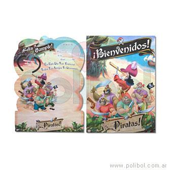 Afiche de Bienvenidos con recordatorio Los piratas-Disney