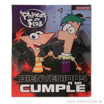 Afiche de Bienvenida a mi cumpleaños Phineas y Ferb