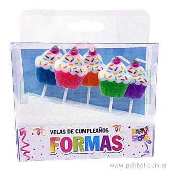 Velas de cumpleaños cupcake