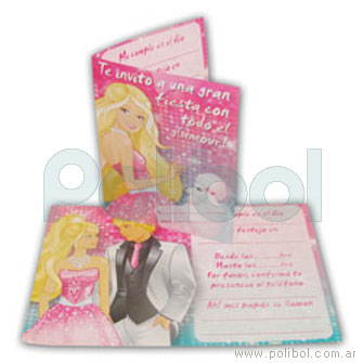 Invitaciones Barbie