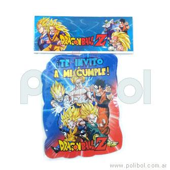 Invitaciones Dragon Ball Z x10
