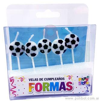 Velas de cumpleaños pelotas de futbol