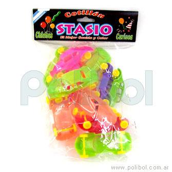Autitos plásticos de colores grandes