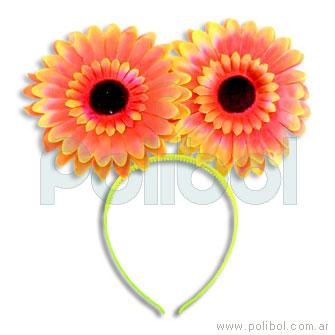 Vincha con antenas de flor