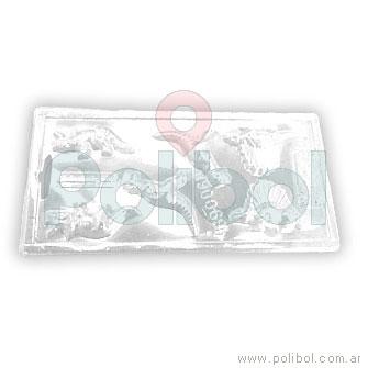 Molde plástico de dinosaurios x6