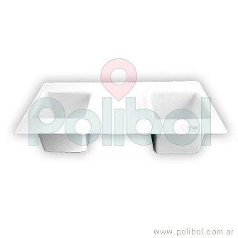Molde plástico de cubo x 2