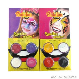 Maquillaje acuarelable 8 gr. x4