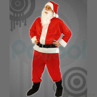 Disfraz para adultos de Papá Noel de Tafeta Talle único