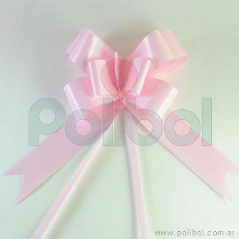 Moño rápido brillante rosa