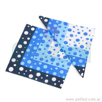 Servilleta 33 x 33 Azul degradado con lunares