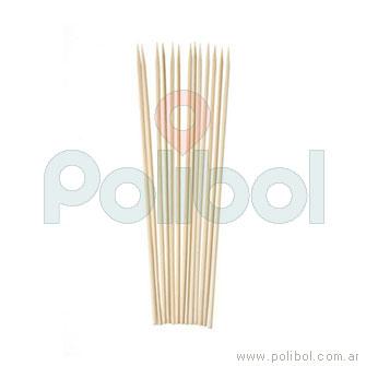 Palitos para brochette 25cm. x50