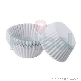 Pirotines Cupcake color blanco