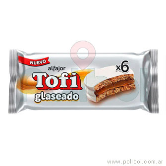 Alfajor mini glaseado blanco