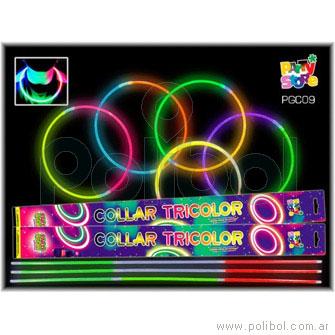 Collar luminoso tricolor