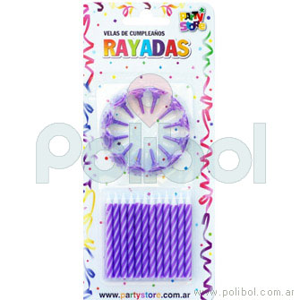 Velas de cumpleaños violetas